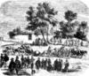 "O. Guericke kísérlete a ""magdeburgi féltekék""-kel 1654-ben."