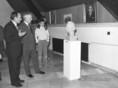 Bányász Rezső a Jurta Galériában megrendezett kiállításon