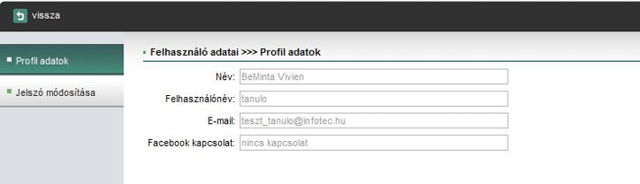 Profil adatok