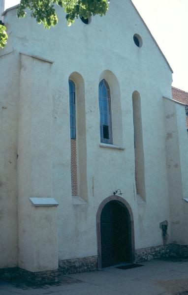 A siklósi ágostonrendi kolostor nyugati homlokzata