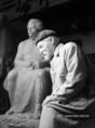 Látogatás Medgyessy Ferenc szobrászművész műtermében