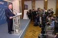 Kovács László sajtótájékoztatója a választások első fordulója estéjén