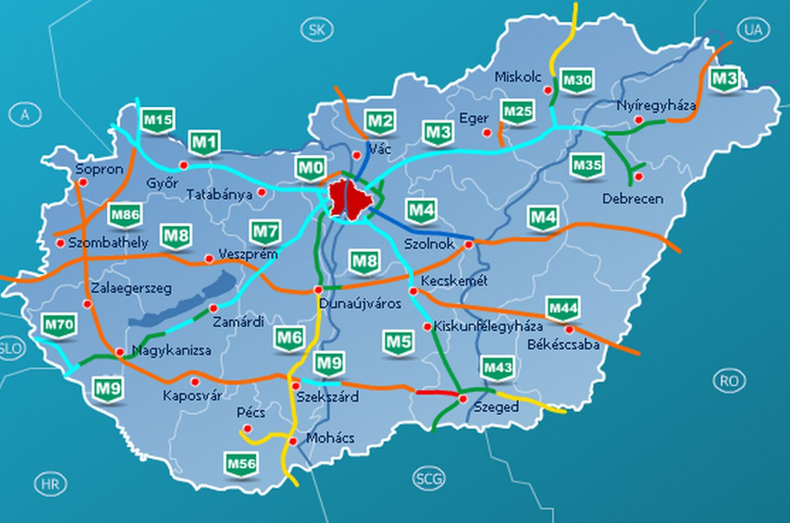 magyarország térkép autópályákkal Közlekedési földrajz | SuliTudásbázis magyarország térkép autópályákkal