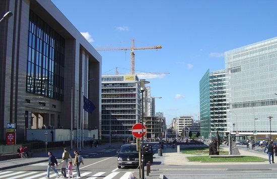 A Tanács és a Bizottság főépületei Brüsszelben