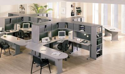 Több munkahelyes iroda berendezése