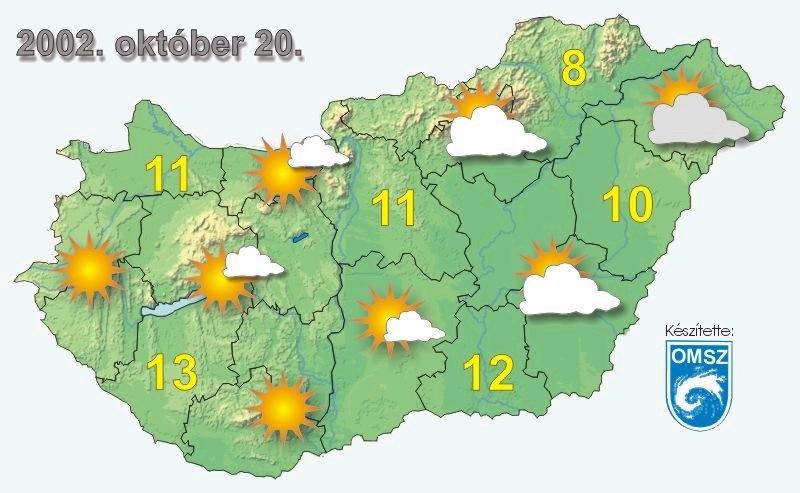 időjárás térkép Ember a természetben   5. osztály | SuliTudásbázis időjárás térkép