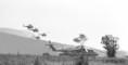 Duna '84 hadgyakorlaton a Szovjet Hadsereg gépesített lövészalegységének desszantja ér földet