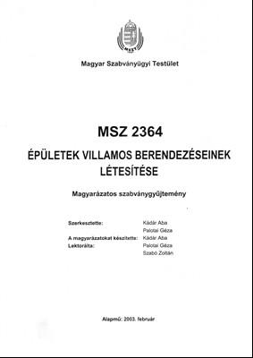 Az érintésvédelmi szabályzat első lapja
