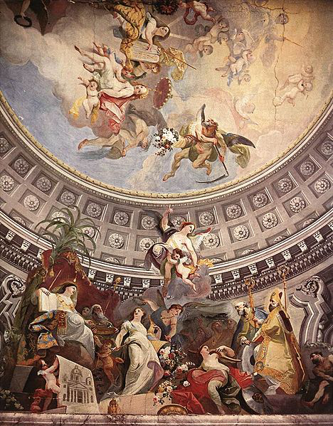 Maulbertsch,_Franz_-_Ceiling_fresco_in_the_Episcopal_Palace,_Szombathely_-1782