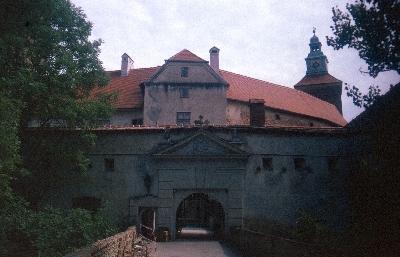 A borostyánkői vár látképe