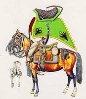 Huszárló felszerelése (1750)