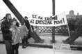 A vízlépcsőrendszer elleni tüntetés