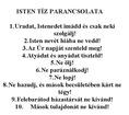 A tíz parancsolat