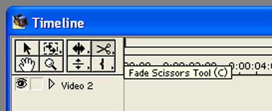 Fade scissors