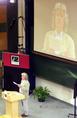Esterházy Péter előadása a Mindentudás Egyetemén