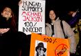 Gyertyás virrasztás Budapesten Michael Jackson ártatlanságáért