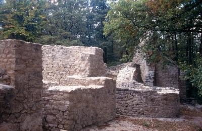 A nagyvázsonyi pálos kolostor keleti fala