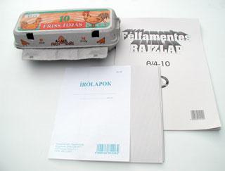 Újrahasznosított papírból készült termékek
