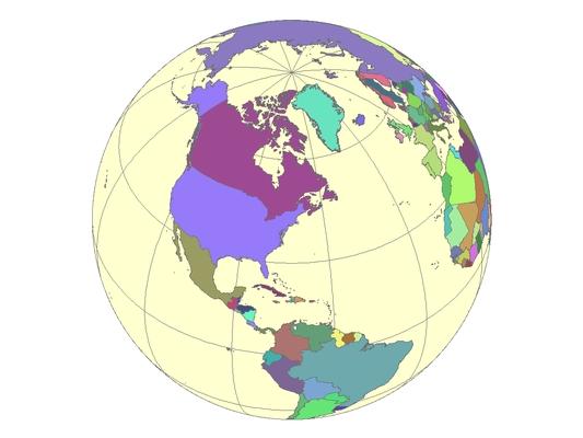 """""""Gömb"""" térkép"""