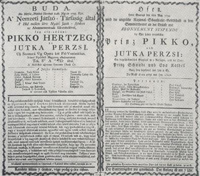 Pikko hertzeg c. magyar opera