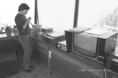 A balatoni viharjelző szolgálat működés közben