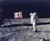 Amerikai zászló a Hold felszínén