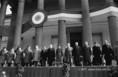 Az 1848-as forradalom évfordulóján rendezett ünnepi nagygyűlés résztvevői
