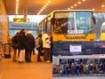 Zsúfolt tömegközlekedési eszköz Budapesten - menetrendszerinti buszjárat