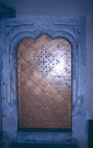 Plébániatemplom Pesten - csigalépcső ajtó