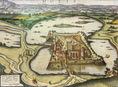 A tatai vár egykorú ábrázolása (16. század vége)