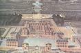 A versailles-i palota távlati képe