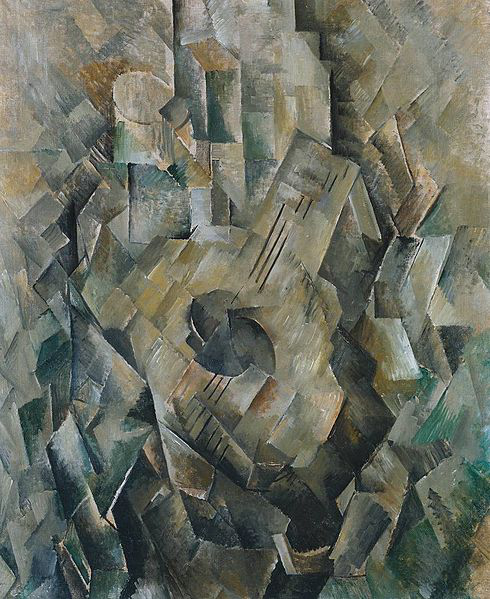 490px-Georges_Braque,_1909-10,_La_guitare_(Mandora,_La_Mandore),_oil_on_canvas,_71.1_x_55.9_cm,_Tate_Modern,_London