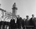 Fehér Lajos miniszterelnök-helyettes és Czinege Lajos vezérzeredes, honvédelmi miniszter Battonyán