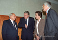 Göncz Árpád reggelije a KeK delegációi vezetőinek tiszteletére