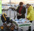 Greenpeace-aktivisták demonstrációja a fővárosban