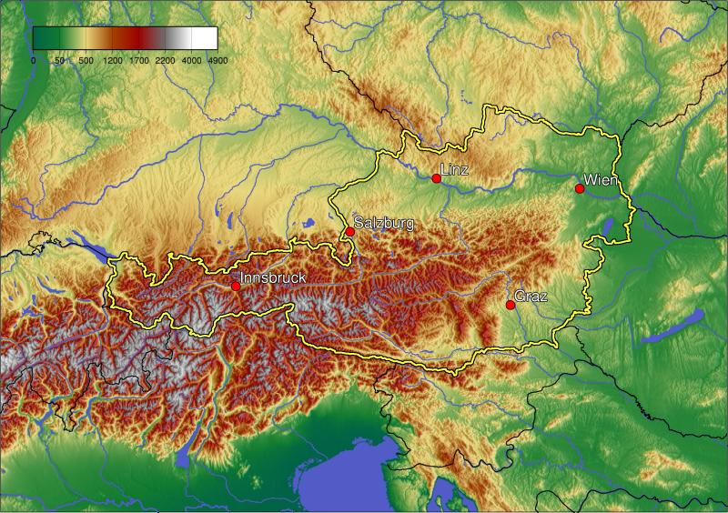 ausztria hegyei térkép Regionális földrajz | SuliTudásbázis ausztria hegyei térkép