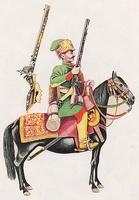 Erdélyi puskás lovas - zöld (1650)