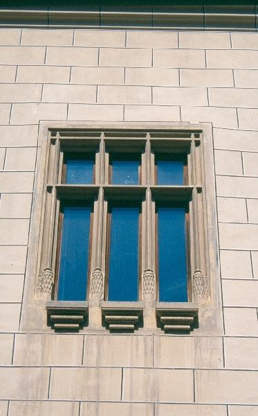 A nagyszebeni városháza - gótikus háromosztatú ablak rekonstrukciója