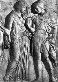 Eurüdikétől búcsúzó Orpheusz