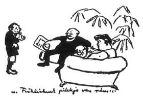 Karinthy Frigyes: Illusztráció, Magyarázom a bizonyítványom