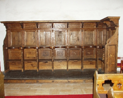 Az avasi Szent István plébániatemplom - a reneszánsz stallum