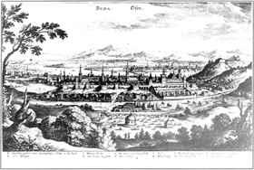 A török által megszállt Buda látképe