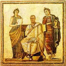 Vergilius két múzsa társaságában