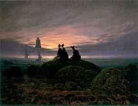 Caspar David Friedrich: Holdfény a felhők felett