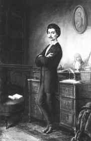 Orlay Petrich Soma: Petőfi íróasztala előtt