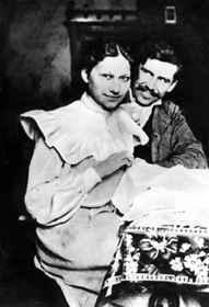 Móricz Zsigmond első feleségével, Jankával