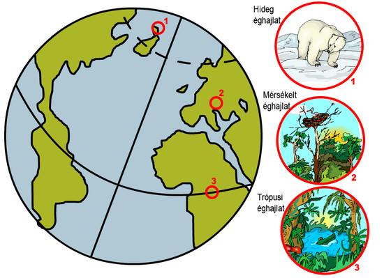 A különböző éghajlati övezetek lakói