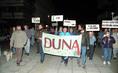 A bős-nagymarosi vízlépcsőrendszer elleni tüntetés
