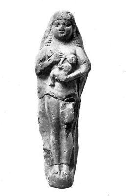 Szoptató asszony (mezopotámiai szobrocska)