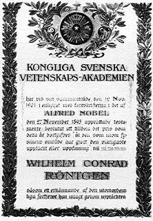 Röntgen Nobel-díja